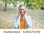 sick and tired woman with... | Shutterstock . vector #1246171192
