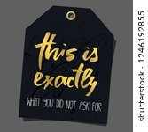 funny gift tag. lettering ... | Shutterstock . vector #1246192855