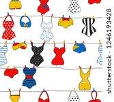 decorative seamless pattern... | Shutterstock . vector #1246193428