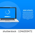 system software update  data... | Shutterstock .eps vector #1246203472