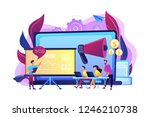 marketeers learning from fellow ... | Shutterstock .eps vector #1246210738