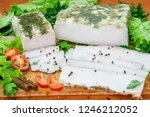 piece of salo  lard with spices ...   Shutterstock . vector #1246212052