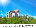 clam castle in austria  perg im ... | Shutterstock . vector #1246217392