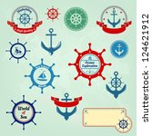sea badges and labels logo | Shutterstock . vector #124621912