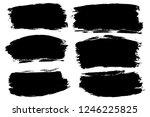 vector set of hand drawn brush... | Shutterstock .eps vector #1246225825