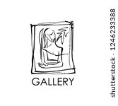 logo for the gallery with the...   Shutterstock .eps vector #1246233388