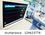neonatal icu with ecg monitor... | Shutterstock . vector #124623778