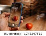 men using artificial... | Shutterstock . vector #1246247512