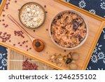 chinese northern cuisine  laba... | Shutterstock . vector #1246255102