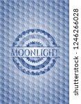 moonlight blue hexagon emblem. | Shutterstock .eps vector #1246266028