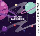 flat design of galaxy... | Shutterstock .eps vector #1246272502