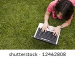 woman connecting the internet...   Shutterstock . vector #12462808