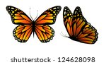 Stock vector vector butterfly with hearts on wings 124628098