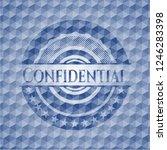 confidential blue emblem with... | Shutterstock .eps vector #1246283398