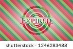 expired christmas style badge.. | Shutterstock .eps vector #1246283488