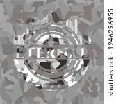 eternal grey camo emblem | Shutterstock .eps vector #1246296955