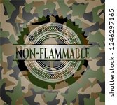 non flammable on camo pattern | Shutterstock .eps vector #1246297165