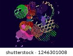 abstract vector background dot... | Shutterstock .eps vector #1246301008