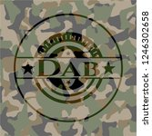 dab written on a camouflage... | Shutterstock .eps vector #1246302658