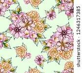 abstract elegance seamless... | Shutterstock .eps vector #1246317385