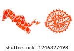 fire hazard collage of map of... | Shutterstock .eps vector #1246327498
