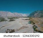 nubra is a tri armed valley...   Shutterstock . vector #1246330192
