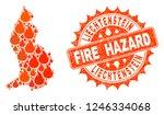 fire hazard collage of map of... | Shutterstock .eps vector #1246334068