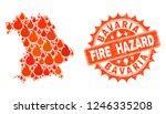 fire hazard combination of map... | Shutterstock .eps vector #1246335208