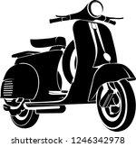 Classic Vespa Scooter Vector...