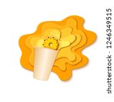 paper cup with splash pouring...   Shutterstock .eps vector #1246349515