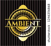 ambient golden badge | Shutterstock .eps vector #1246356868