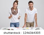 photo of cheerful woman and man ... | Shutterstock . vector #1246364305
