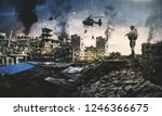 helicopter and forces in... | Shutterstock . vector #1246366675