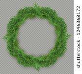christmas decorative fir tree... | Shutterstock .eps vector #1246368172