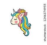 vector illustration of cute...   Shutterstock .eps vector #1246374955