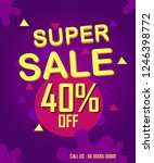 sale offer by shop | Shutterstock . vector #1246398772