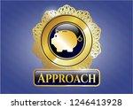 golden emblem with piggy bank... | Shutterstock .eps vector #1246413928