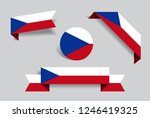 czech flag stickers and labels...   Shutterstock .eps vector #1246419325