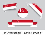 singapore flag stickers and...   Shutterstock .eps vector #1246419355