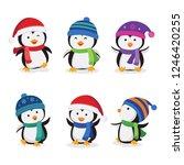 christmas penguins vector... | Shutterstock .eps vector #1246420255