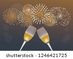 christmas and new year festival ... | Shutterstock .eps vector #1246421725