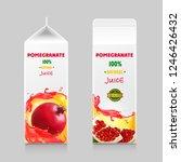 pomegranate juice cardboard... | Shutterstock .eps vector #1246426432