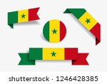senegalese flag stickers and... | Shutterstock .eps vector #1246428385