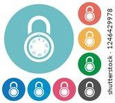locked round combination lock...   Shutterstock .eps vector #1246429978
