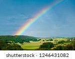 Rainbow in a rural area in...