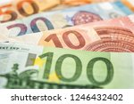 some euro bank notes | Shutterstock . vector #1246432402