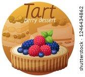 tart dessert with berries icon...   Shutterstock .eps vector #1246434862