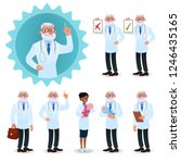doctor characters set. flat...   Shutterstock .eps vector #1246435165