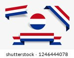 dutch flag stickers and labels... | Shutterstock .eps vector #1246444078