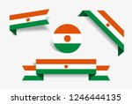niger flag stickers and labels... | Shutterstock .eps vector #1246444135